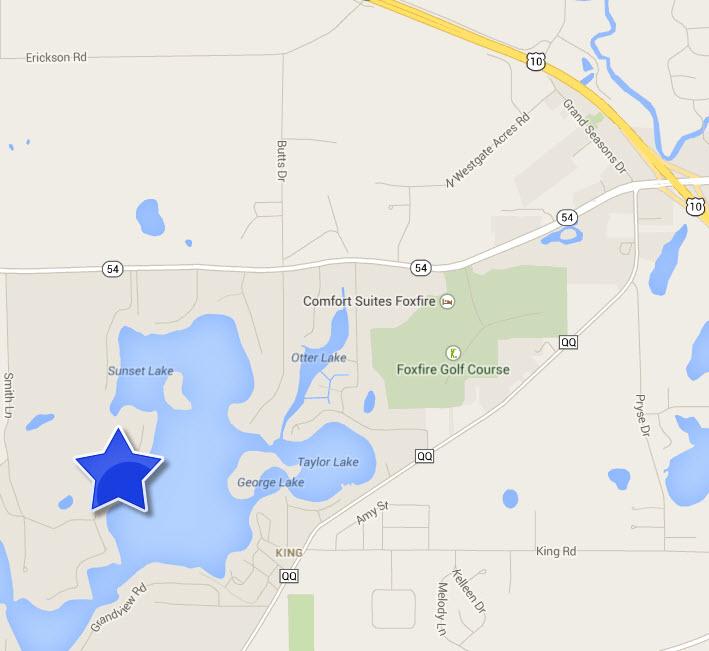 Waupaca Chain O Lakes Google map