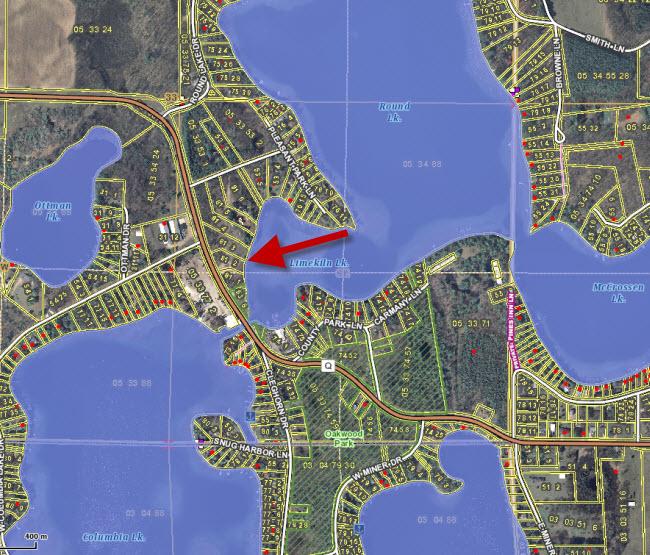 Waupaca Chain O Lakes Real Estate GIS Wide 2