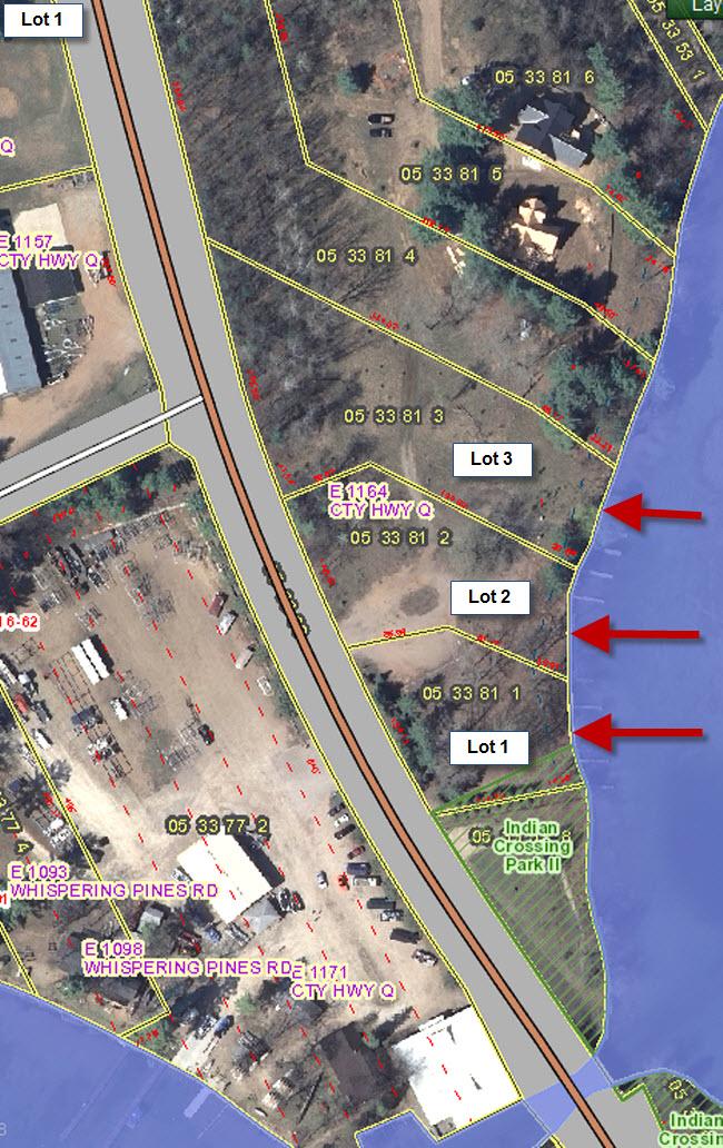Waupaca Chain O Lakes Real Estate GIS clos up