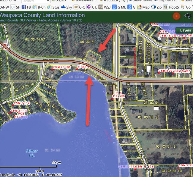 Waupaca Chain O lakes Miner GIS wide - Copy-1