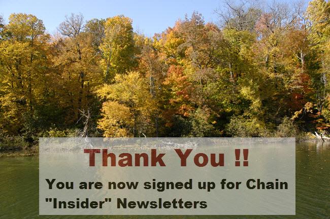 Thank you newsletter Waupaca Chain O Lakes