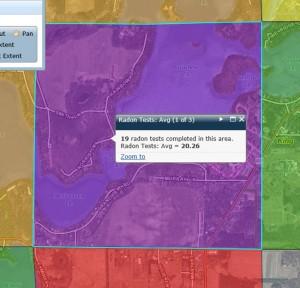 Waupaca Chain Radon Map 650