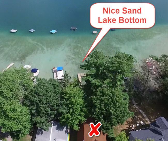 Waupaca Chain of Lakes sand lake bottom 650