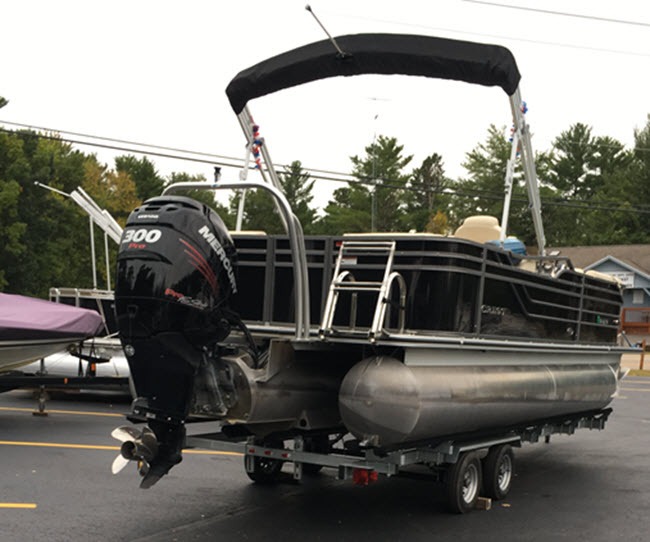 Go Fast, Big Motor on Smaller Pontoon Boat