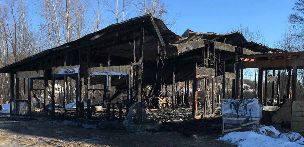 Sad … Fire at Bonnie's Bloomers