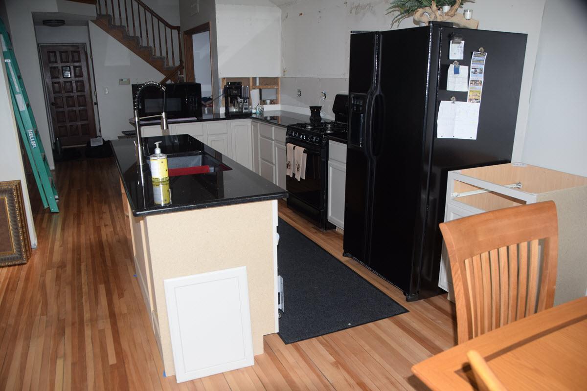 Kitchen half done 1200 Waupaca Chain O Lakes