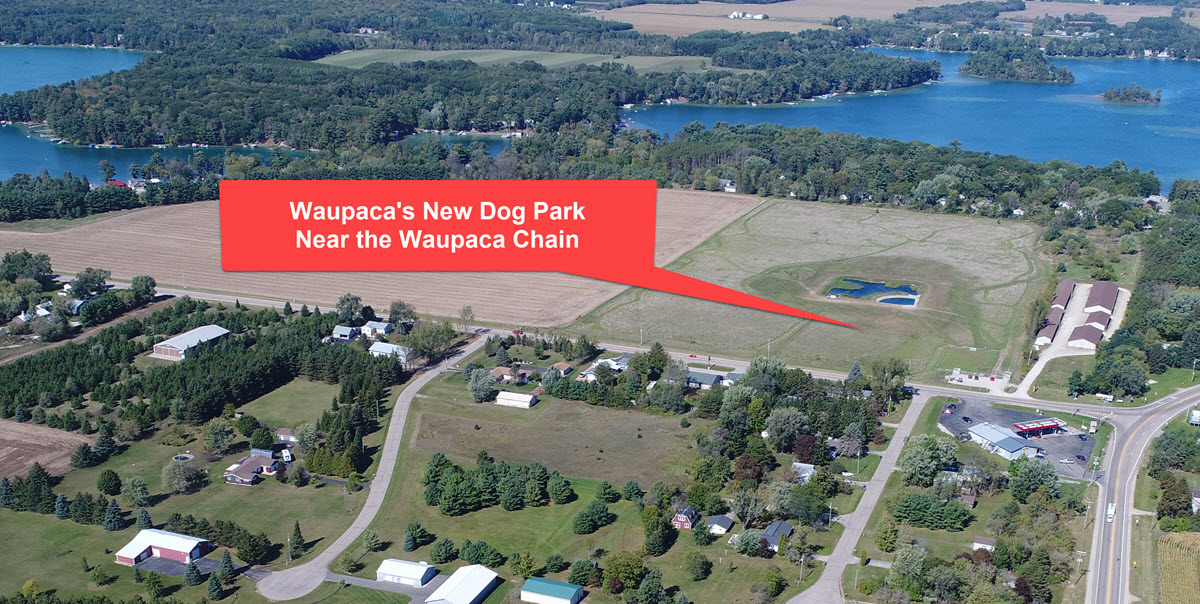 New Waupaca Dog Park – Has a Pond