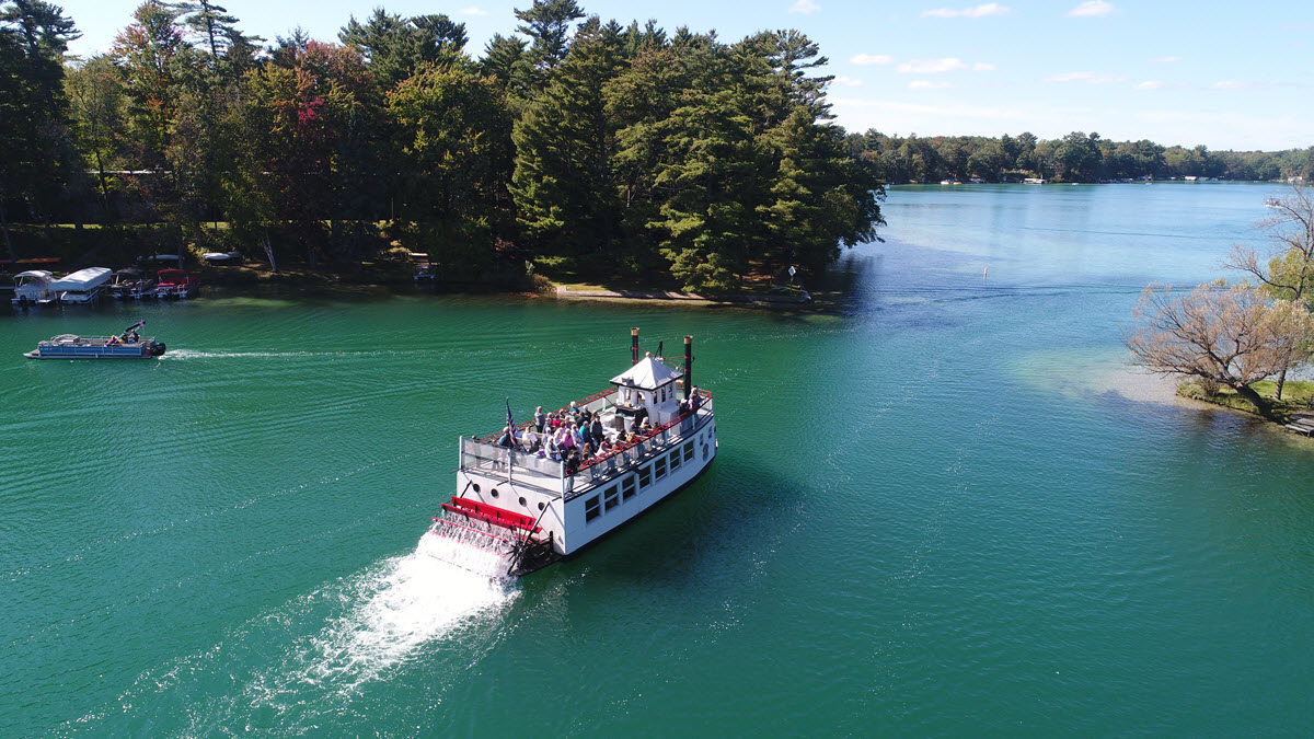 "Our Chain Magazine ""Eye in the Sky"" Captured the Big Boat Touring on a Beautiful Fall Day"
