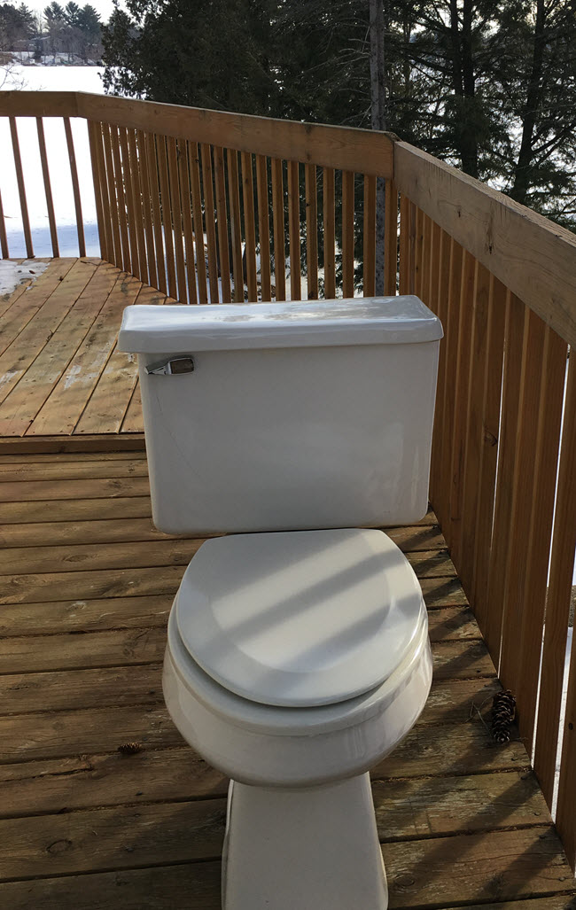 Why Is This Toilet On The Deck?