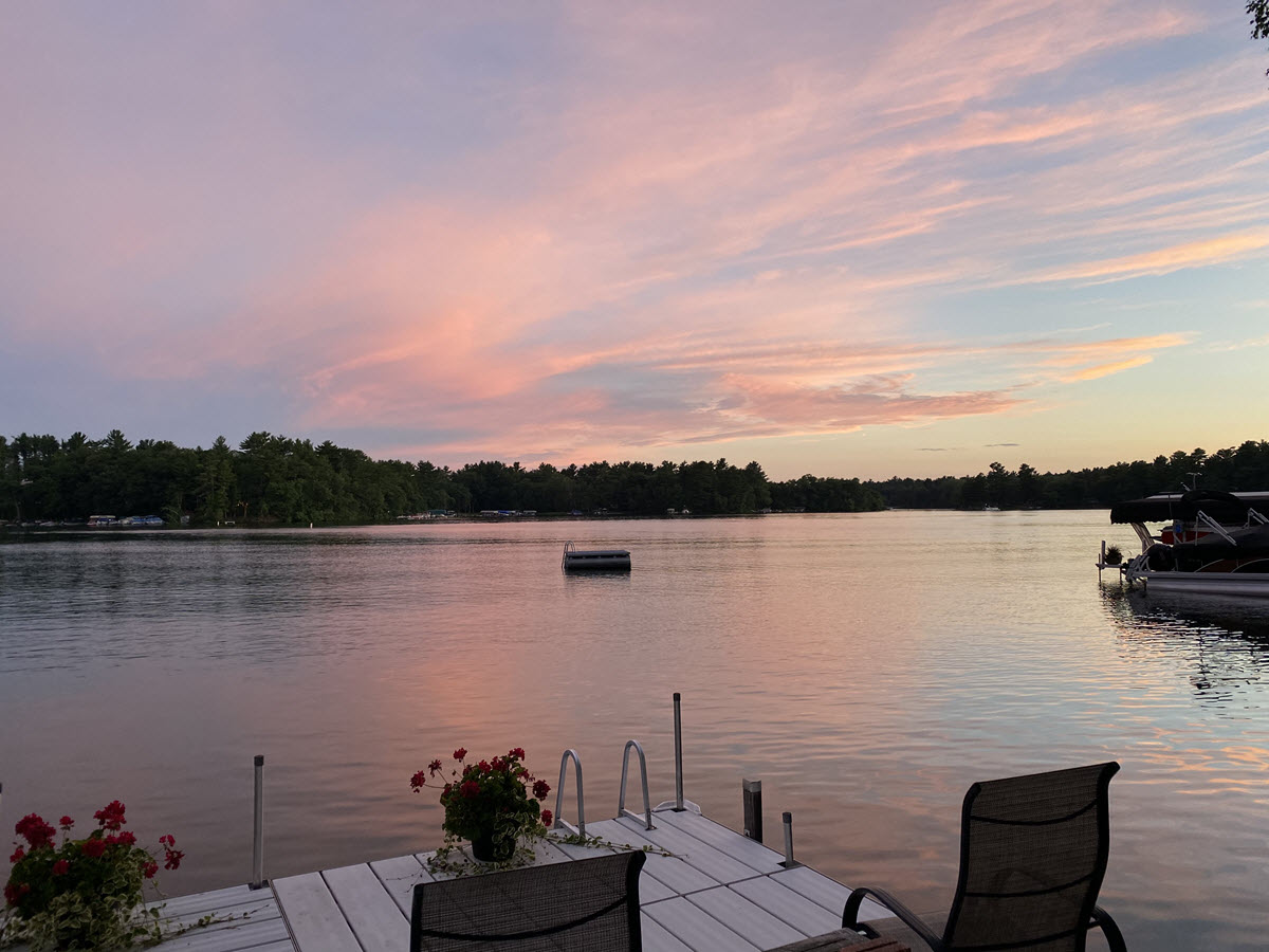 Great Sunset on the Waupaca Chain's Columbia Lake